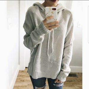 NWT Olivia Sky Cozy Gray Knitted Sweater